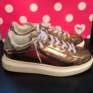 JustFab Rose Gold Sneakers